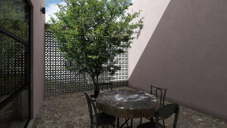 SAHAI ELIXIR: Terrazas de estilo  por Mouret Arquitectura
