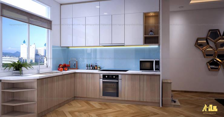 nội thất chung cư:  Tủ bếp by AcilB Design