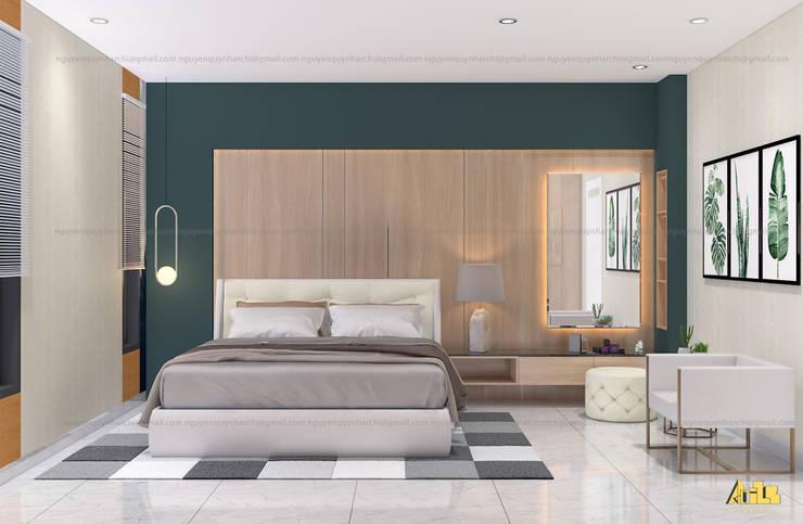 nội thất biệt thự phố Q2:  Phòng ngủ by AcilB Design