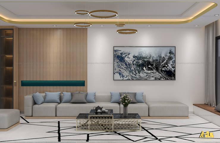 nội thất biệt thự phố Q2:  Phòng khách by AcilB Design
