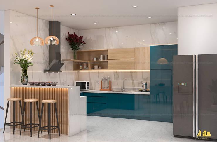 nội thất biệt thự phố Q2:  Tủ bếp by AcilB Design