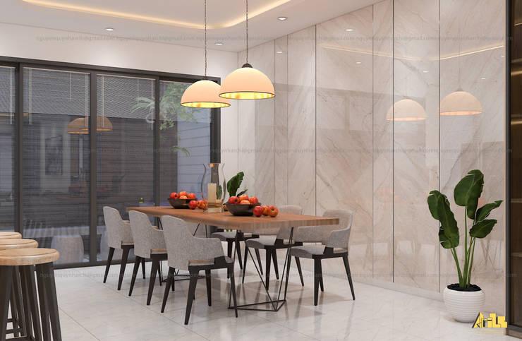 nội thất biệt thự phố Q2:  Phòng ăn by AcilB Design