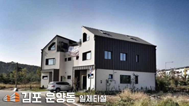 일체타설용 단열재: 주식회사 미트하임의  다가구 주택,모던