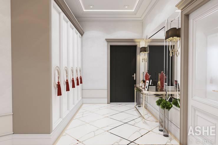 Couloir et hall d'entrée de style  par Студия авторского дизайна ASHE Home,