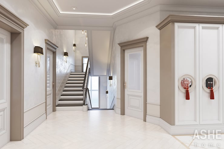 Escalier de style  par Студия авторского дизайна ASHE Home,
