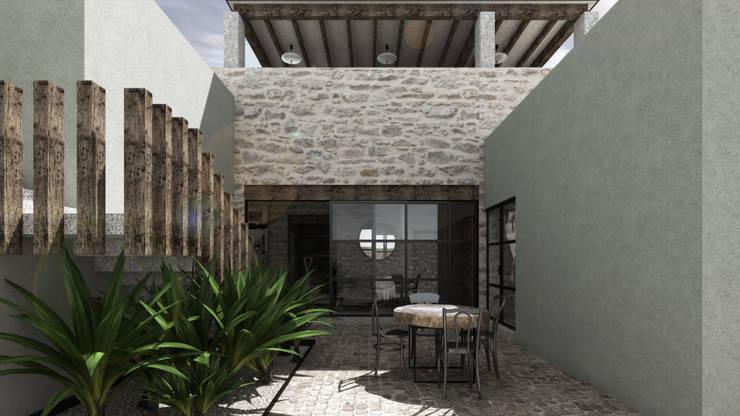 SAHAI UMA: Terrazas de estilo  por Mouret Arquitectura