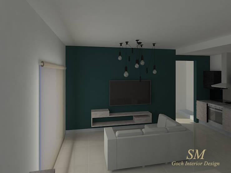 Living: Livings de estilo  por Goch Interior Design,