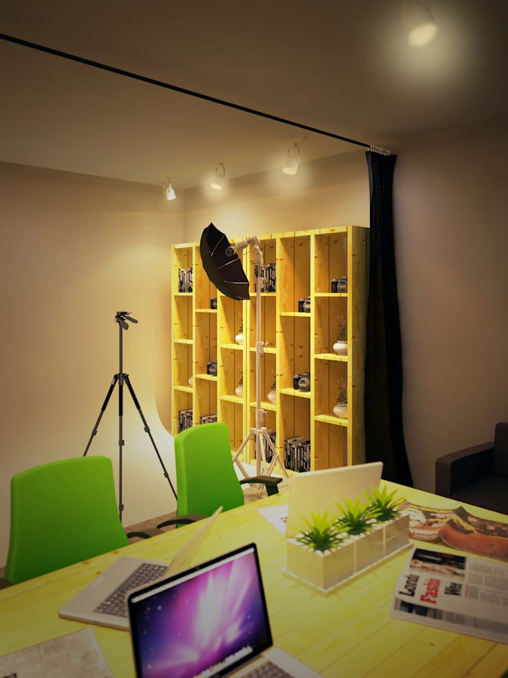 Office space karawaci:  Ruang Kerja by Dwello Design