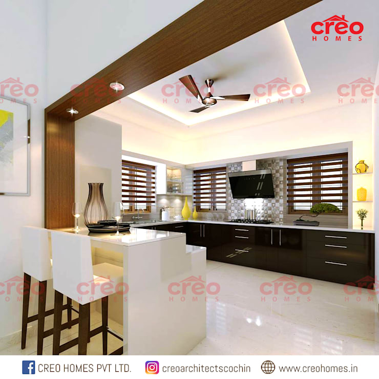 Kitchen by CreoHomes Pvt Ltd