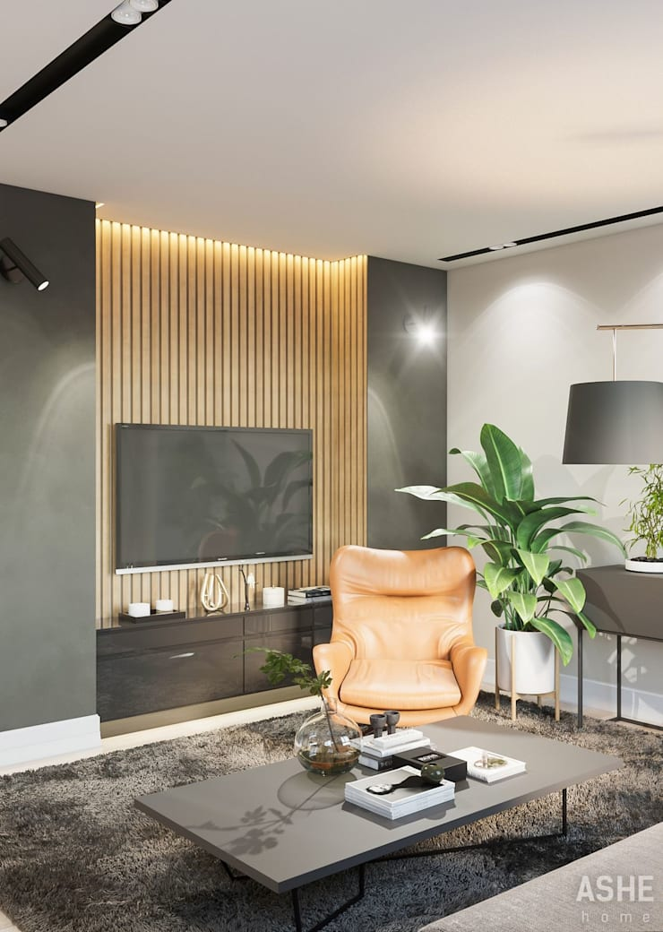 Living room by Студия авторского дизайна ASHE Home