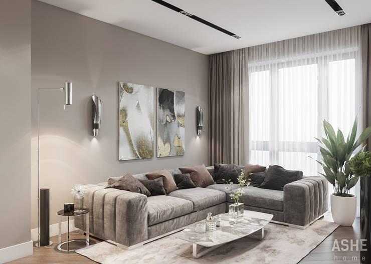 Salon de style  par Студия авторского дизайна ASHE Home,