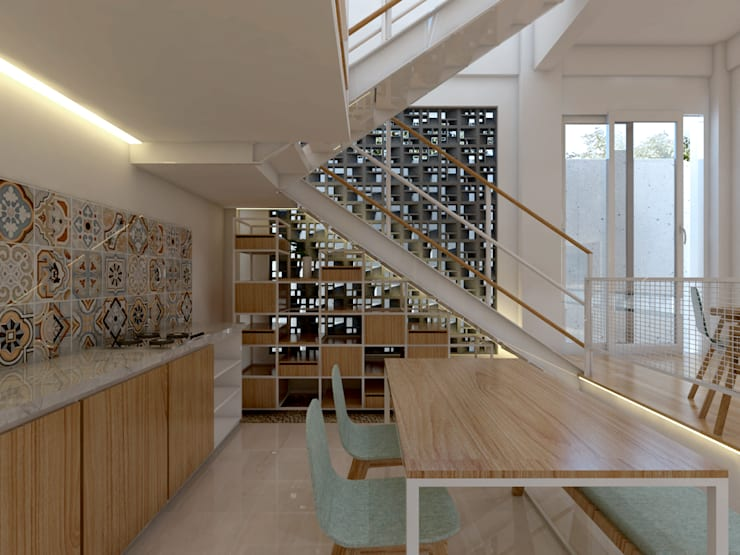 TSforTC House :  Dapur built in by Abil Architect