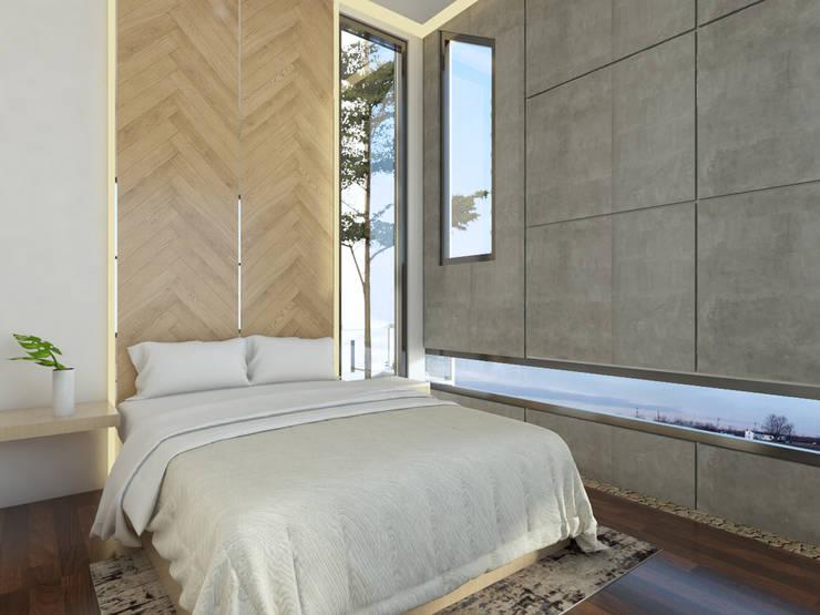TSforTC House :  Kamar tidur kecil by Abil Architect