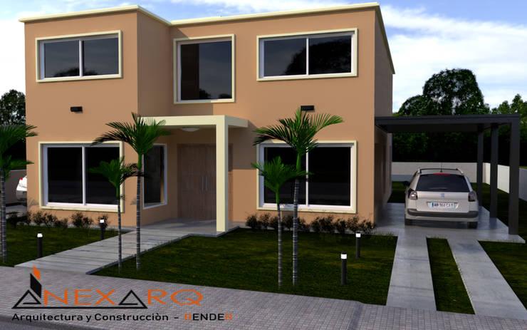 """Proyecto - Vivienda Parterre - Barrio """"Siete Soles"""": Casas de estilo  por AnexArq,"""