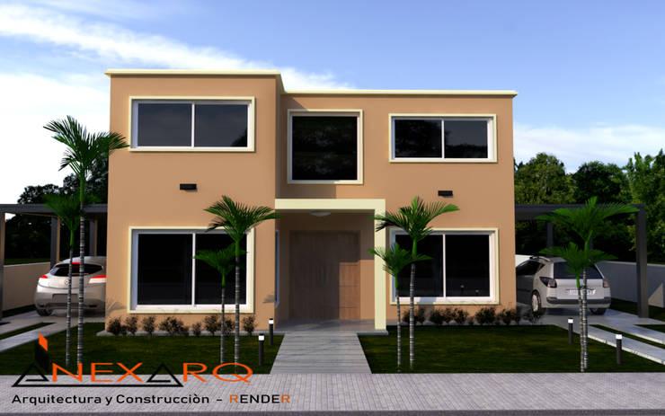 """Proyecto - Vivienda Parterre - Barrio """"Siete Soles"""": Casas unifamiliares de estilo  por AnexArq,"""
