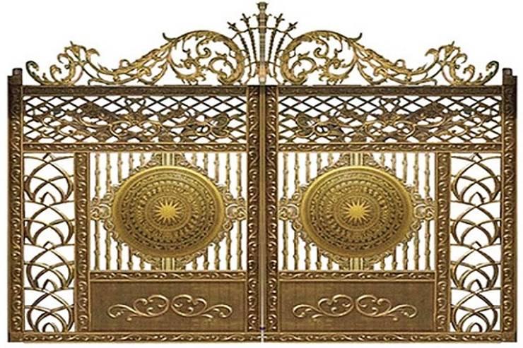 Tư vấn thiết kế cửa cổng nhôm đúc hợp phong thủy:  Nhà kính by CÔNG TY CỔ PHẦN SẢN XUẤT HOÀNG GIA HÀ NỘI