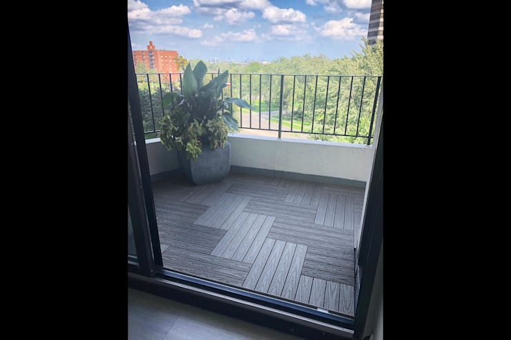 """""""Silver"""" Grey 2x1' Balcony Flooring Tiles in Mississauga:  Balcony by Outdoor Floors Toronto"""