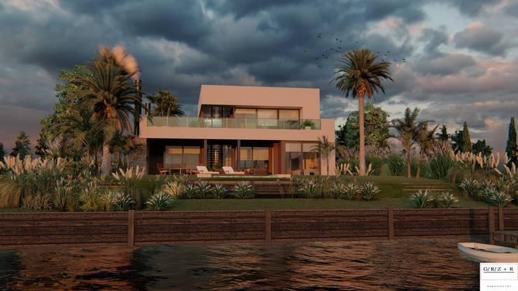 PROYECTO EN LA VIRAZON – NORDELTA: Casas unifamiliares de estilo  por Rocha & Figueroa Bunge arquitectos