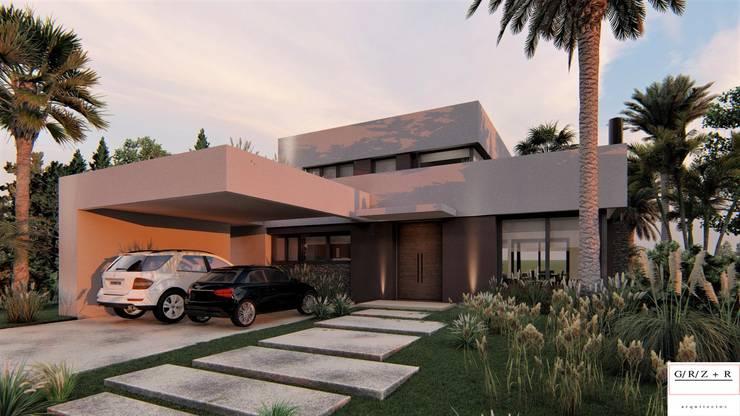 PROYECTO EN LA VIRAZON – NORDELTA: Casas prefabricadas de estilo  por Rocha & Figueroa Bunge arquitectos