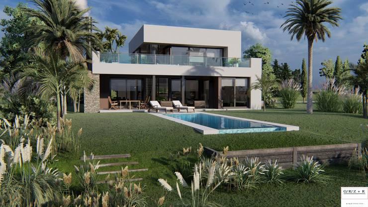 PROYECTO EN LA VIRAZON – NORDELTA: Casas pequeñas de estilo  por Rocha & Figueroa Bunge arquitectos
