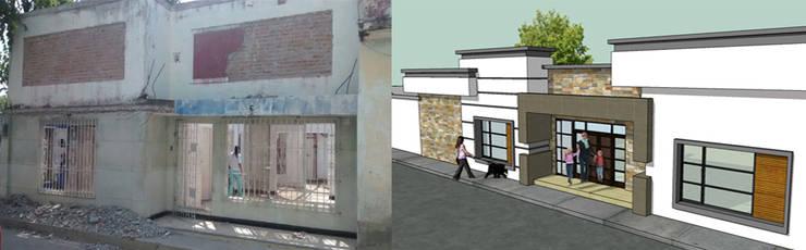 Diseño y Contruccion de fachada: Casas de estilo  por Arquitectura e Ingenieria GM S.A.S