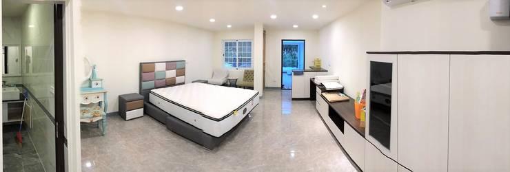 ห้องนอน โดย 築地岩移動宅,