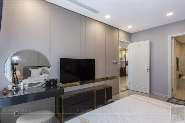 THỰC TẾ CĂN HỘ VINHOMES GOLDEN RIVER – 3-Bedroom Apartment :  Phòng ngủ by ICON INTERIOR