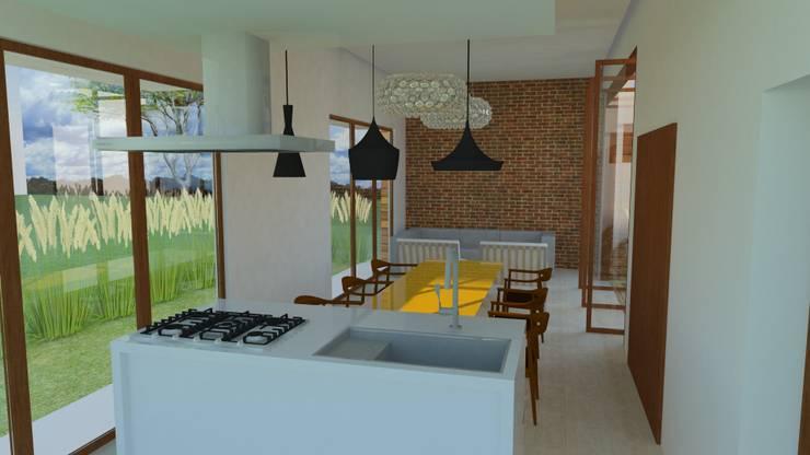 Comedores de estilo  por Tony Santos Arquitetura, Moderno Ladrillos