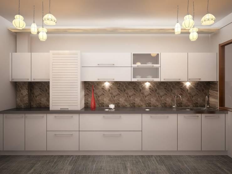 Modular Kitchen:  Kitchen units by Shahnawaz Interio