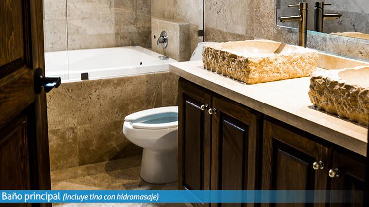 Villa Golden en San Miguel de Allende: Baños de estilo  por VillaSi Construcciones