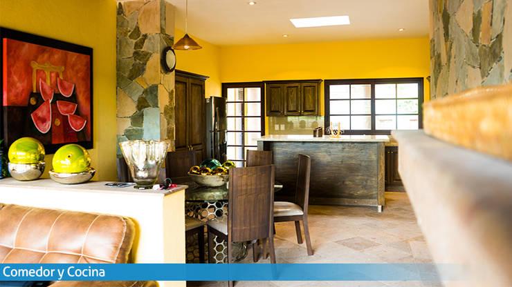 A la mesa: Cocinas equipadas de estilo  por VillaSi Construcciones