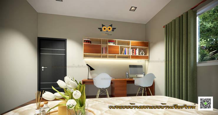 บ้านชั้นเดียว:  บ้านเดี่ยว by แบบบ้านออกแบบบ้านเชียงใหม่