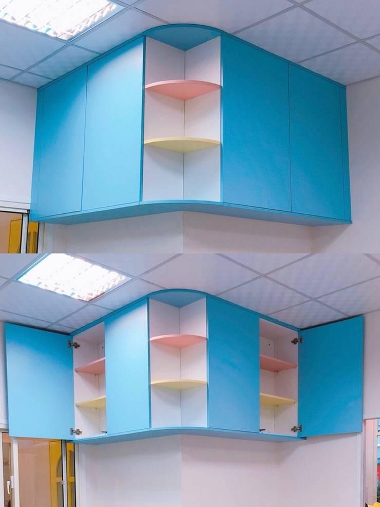 教室收納吊櫃:  嬰兒/兒童房 by 藏私系統傢俱