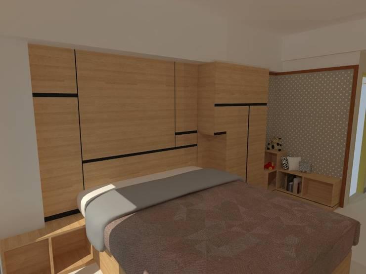 Tempat tidur 3D konsep:  Kamar Tidur by Internodec