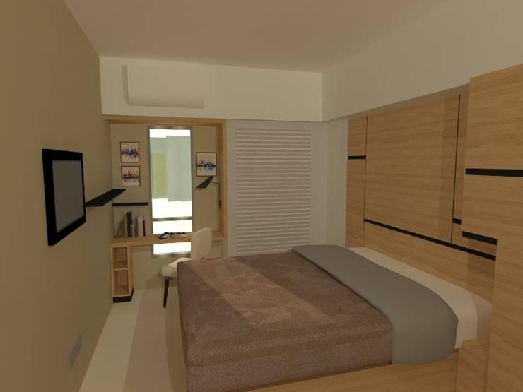 Ruangan 3D konsep:  Kamar Tidur by Internodec