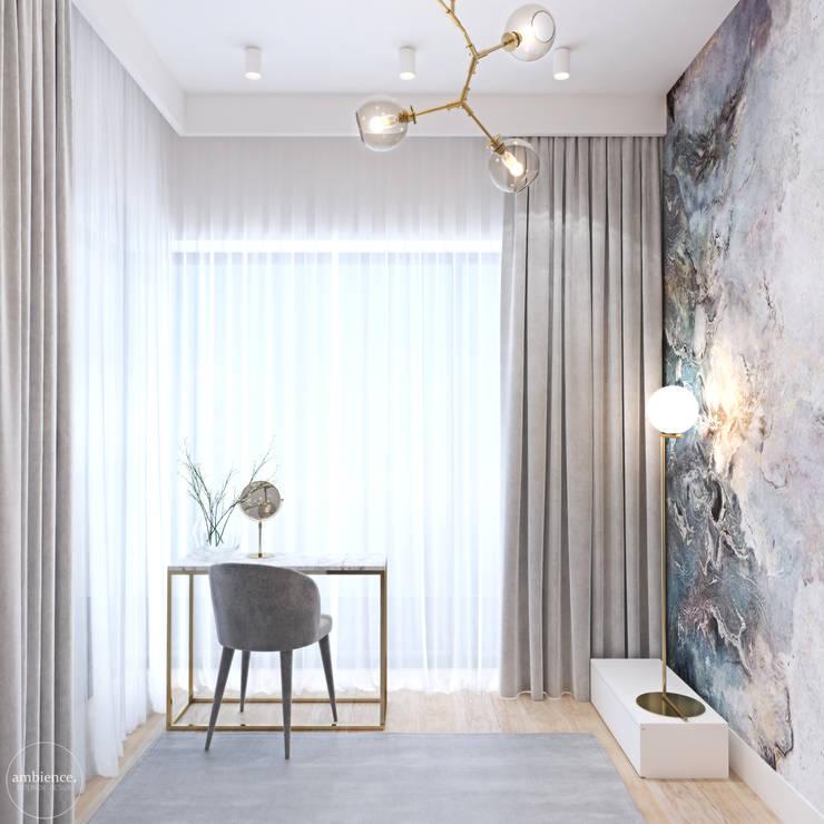Penthouse w Warszawie: styl , w kategorii Sypialnia zaprojektowany przez Ambience. Interior Design