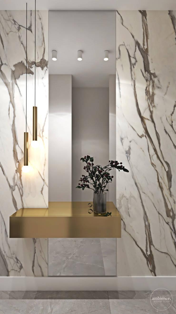 Penthouse w Warszawie: styl , w kategorii Korytarz, przedpokój zaprojektowany przez Ambience. Interior Design