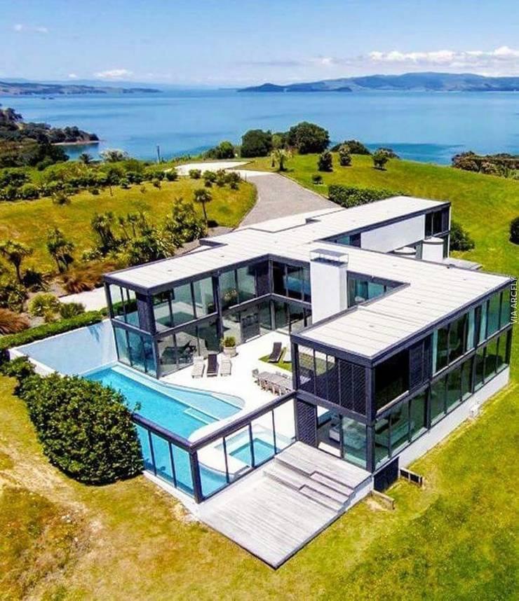 단층주택 평형 주문사이즈: 스마트주방의  주택,