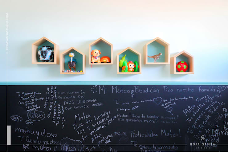 Habitación Growing Up: Estudios y oficinas de estilo  por Hoja Santa Studio