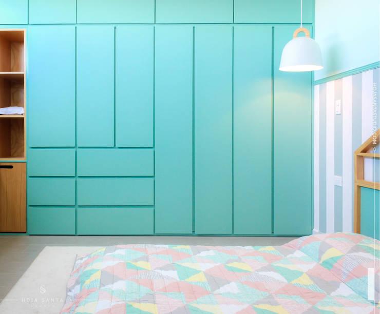 Habitación Growing Up: Paredes de estilo  por Hoja Santa Studio
