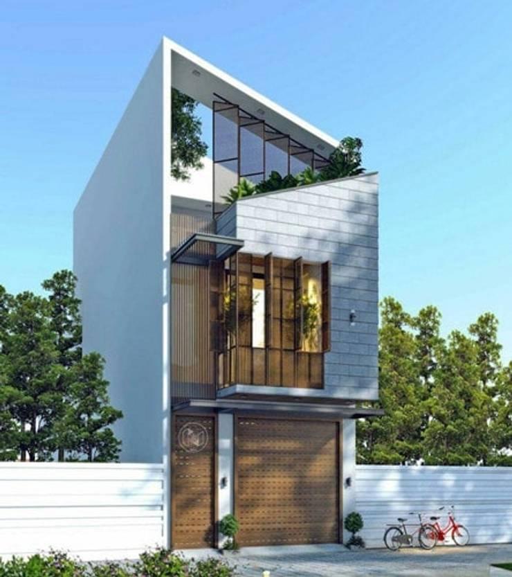 Tổng hợp các mẫu nhà phố mái lệch được ưa chuộng nhất năm 2019:   by Kiến Trúc Xây Dựng Incocons