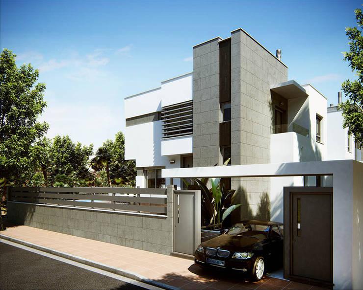 VIVIENDA CAYMA: Casas de estilo  por GSM Edificaciones, Moderno