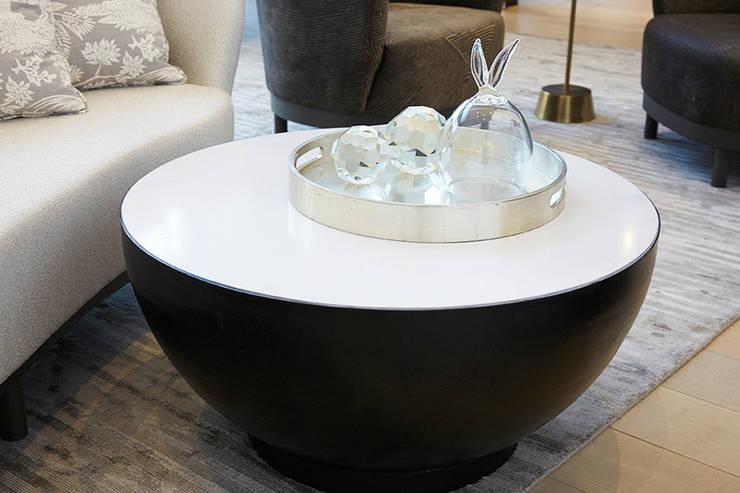 Custom Cauldron Coffee Table - Living Room - 86th Street New York:  Living room by Joe Ginsberg Design
