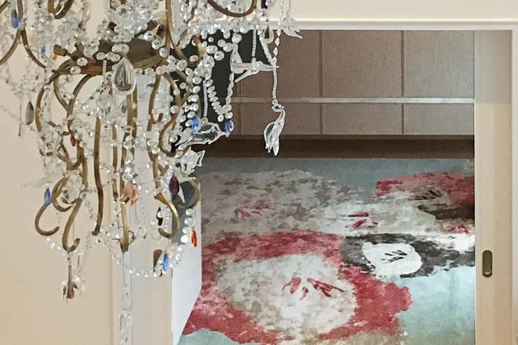 Custom Designed Rug - Playroom - 86th Street New York:  Media room by Joe Ginsberg Design