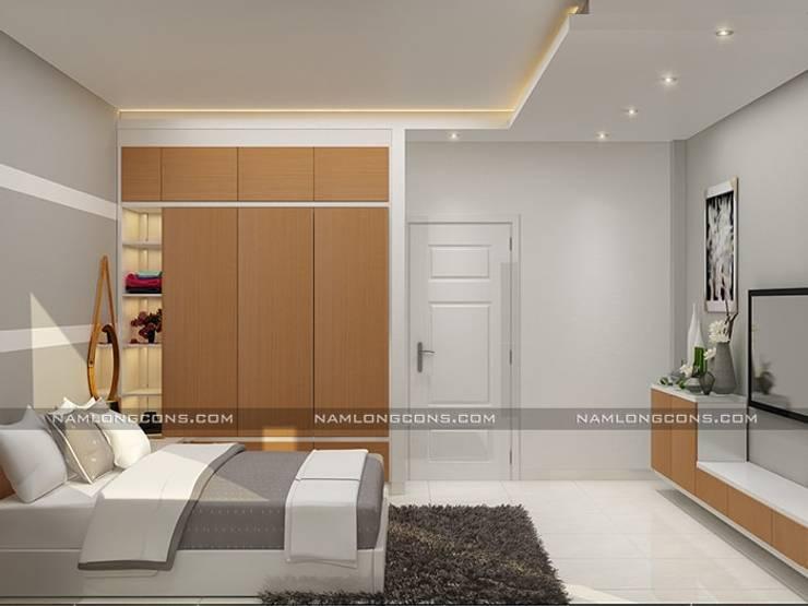 Mẫu nhà 2 tầng rưỡi đẹp:   by Nam Long construction