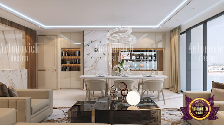 Marble madness:   by Luxury Antonovich Design