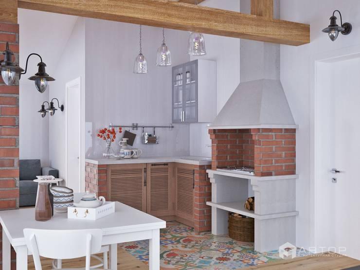 Зона барбекю: Кухни в . Автор – Архитектурная студия 'АВТОР'