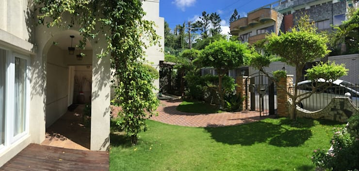 一入家門先穿過寧靜舒適的庭園,洗去在外的身心疲憊:  前院 by 大地工房景觀公司