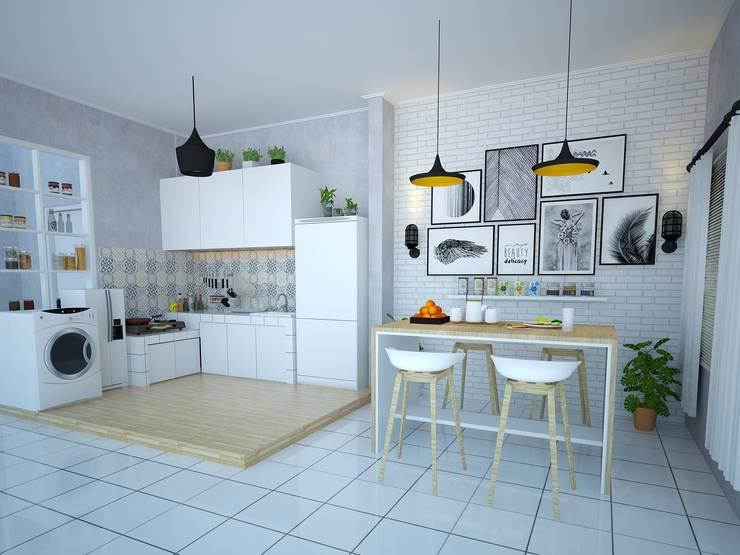 Ruang dapur dan Ruang makan :   by Rangga Cakra