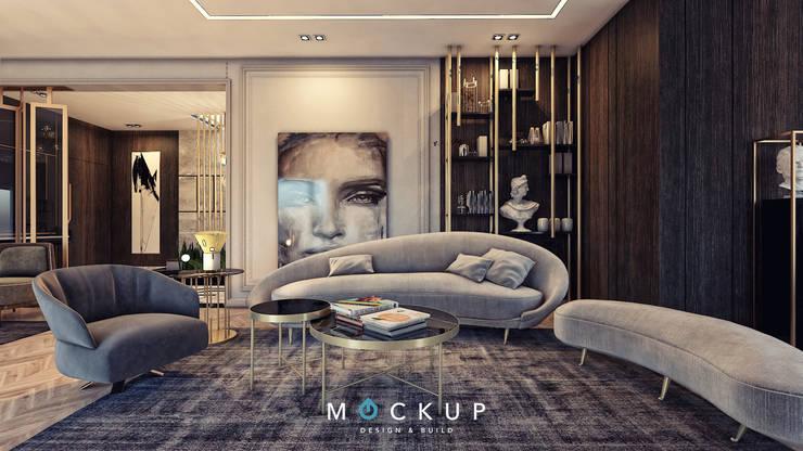 East town – Sodic:  غرفة المعيشة تنفيذ  Mockup studio